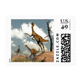 Gallimimus dinosaurs - 3D render Postage