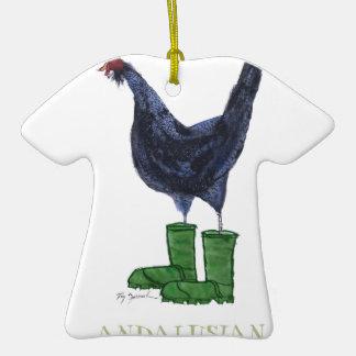 Gallina andaluz, fernandes tony adorno de cerámica en forma de camiseta
