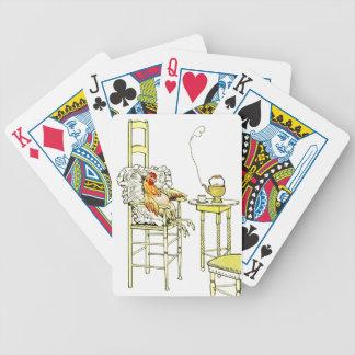 Gallina cansada que tiene un Cuppa Baraja Cartas De Poker