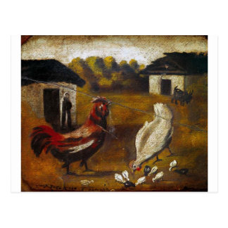 Gallina con el pollo de Niko Pirosmani Tarjetas Postales