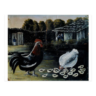 Gallina con sus polluelos de Niko Pirosmani Tarjetas Postales