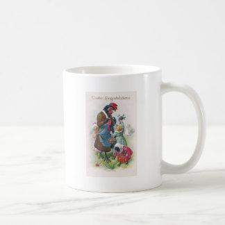 Gallina de la madre y vintage Pascua de los Taza De Café