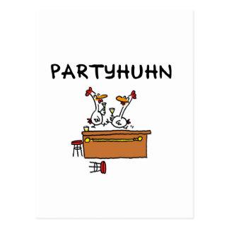 Gallina de party tarjeta postal
