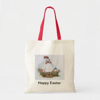 Gallina de Pascua con los huevos Bolsa