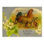 Gallina de Pascua del vintage Postales