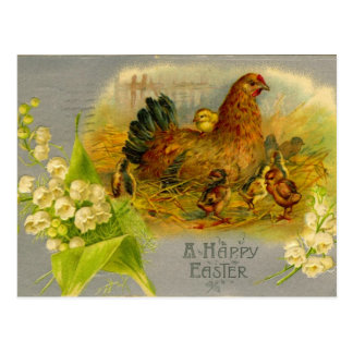 Gallina de Pascua del vintage Tarjeta Postal