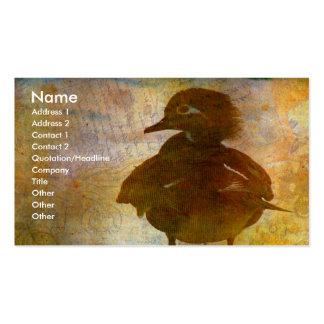 Gallina del pato de madera plantillas de tarjetas personales