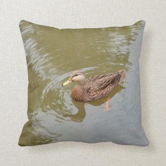 gallina del pato silvestre en el pájaro animal de almohadas