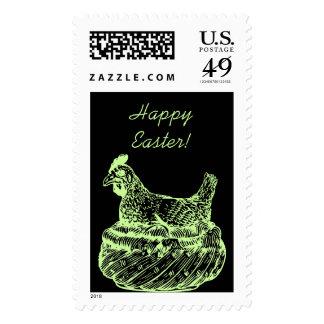 Gallina del vintage en el sello de Pascua los E.E.