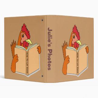 "Gallina divertida del dibujo animado del libro de  carpeta 1"""