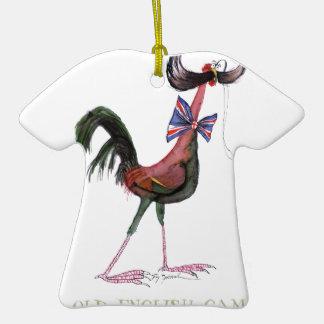 GALLINA INGLESA VIEJA del JUEGO, fernandes tony Adorno De Cerámica En Forma De Camiseta