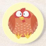 Gallina linda del pollo del círculo posavasos manualidades
