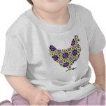 Gallina moderna brillante camisetas