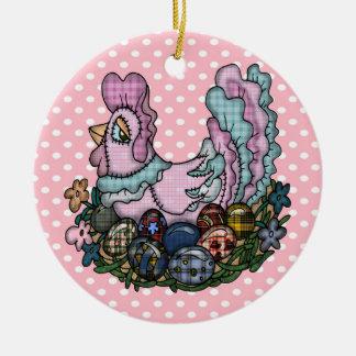 Gallina que pone los huevos de Pascua Ornamentos Para Reyes Magos