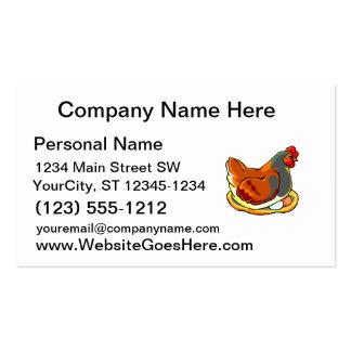 gallina que se sienta en diseño de dos huevos plantillas de tarjetas de visita