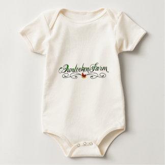 Gallina roja de la granja CSA de Dunlooken pequeña Body Para Bebé