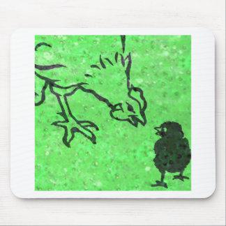 Gallina verde tapetes de raton