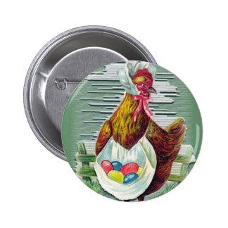 Gallina y botón de Pascua de los huevos Pin
