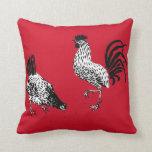 Gallina y gallo almohadas
