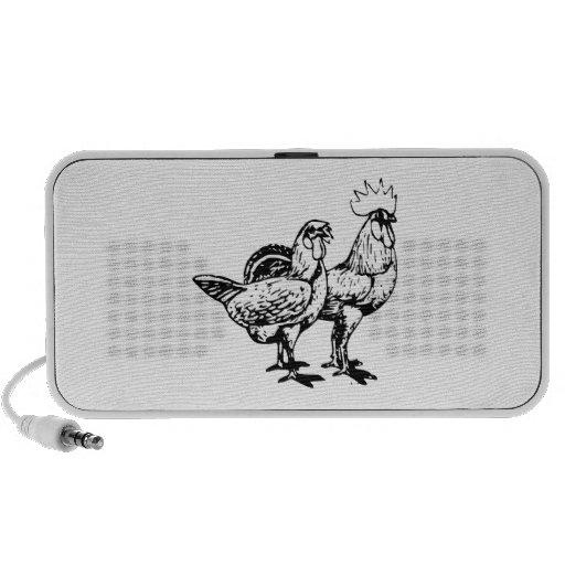 Gallina y gallo iPhone altavoz