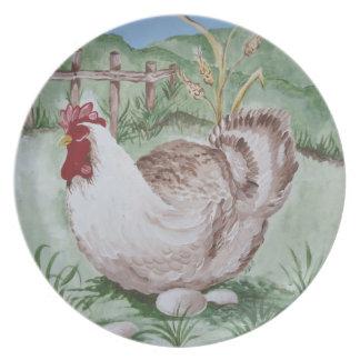 Gallina y huevos platos para fiestas