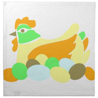 Gallina y huevos servilletas de papel