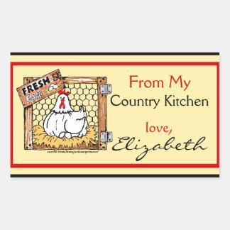 Gallina y nombre de la cocina del país rectangular altavoces