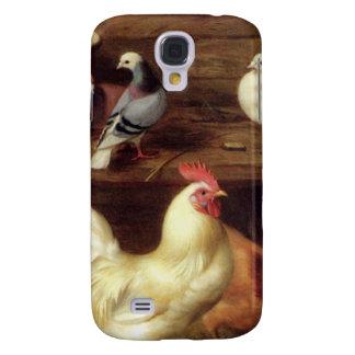 Gallina y polluelos del pollo con los animales del