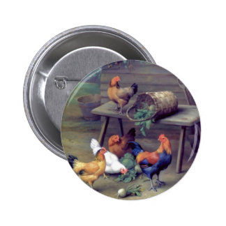Gallinas de la cesta del nabo del gallo pins
