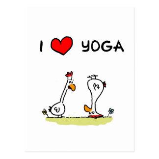 gallinas de yoga tarjetas postales