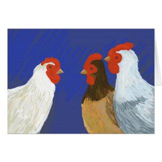 gallinas francesas tarjeta de felicitación