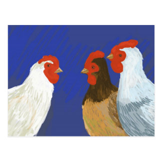 gallinas francesas tarjetas postales