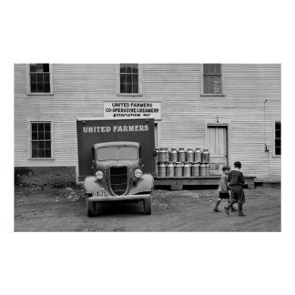 Gallinero de la lechería de Vermont, los años 30 Poster