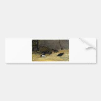 Gallinero de pollo de Paul Gauguin Pegatina Para Auto