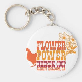 Gallinero de pollo del flower power llaveros