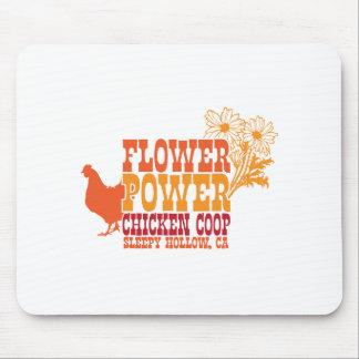 Gallinero de pollo del flower power alfombrilla de ratones