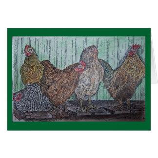 gallinero de pollo tarjeta de felicitación