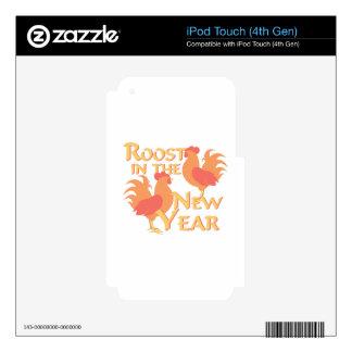 Gallinero en Año Nuevo iPod Touch 4G Skins
