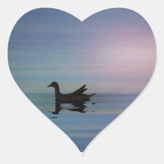 Gallinule Smooth Heart Sticker