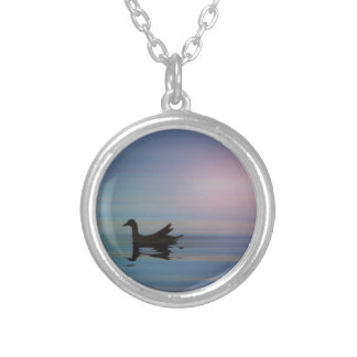 Gallinule Smooth Silver Plated Necklace