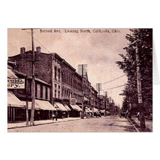 Gallipolis, Ohio downtown 1910 Greeting Card