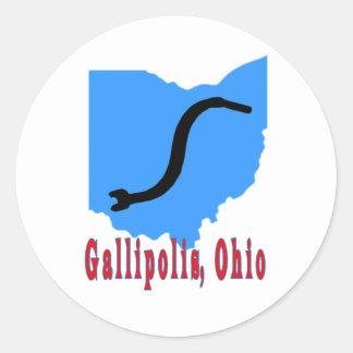 Gallipolis, Ohio Classic Round Sticker