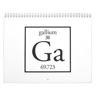 Gallium Wall Calendar