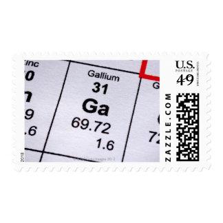 Gallium molecular formula stamp