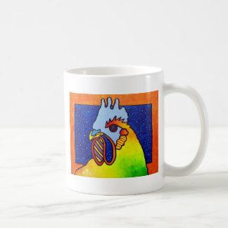 Gallo 4 del arco iris por Piliero Taza Básica Blanca