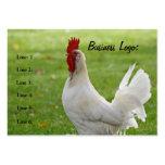Gallo adaptable, tarjeta de visita