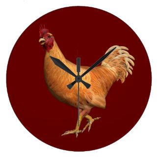 Gallo anaranjado colorido relojes