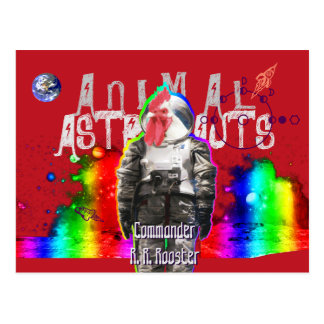 Gallo animal de los astronautas postales