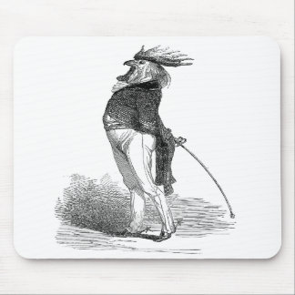 Gallo antropomorfo Mousepad de Grandville