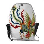 Gallo asiático del arte bolsas de mensajería